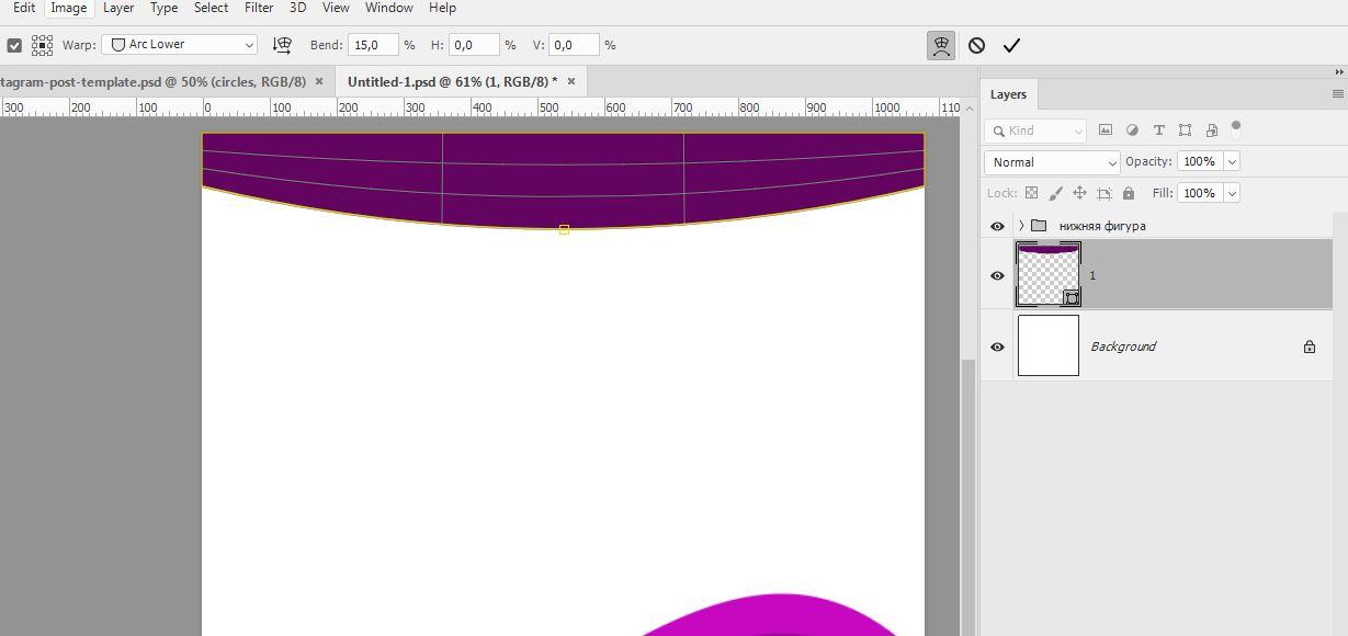 Картинка как сделать шаблоны для инстаграм в фотошопе
