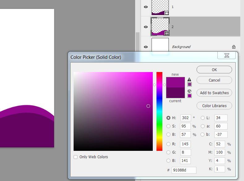 Картинка как изменить цвет шаблона в фотошопе