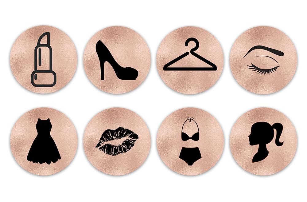 Картинка готовые шаблоны иконок для инстаграм для женщин