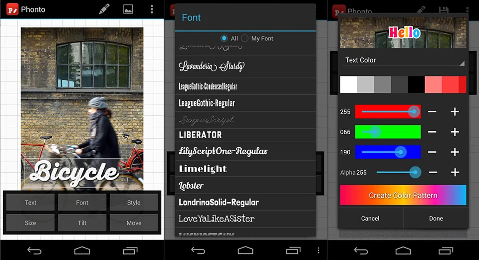 Картинка как писать текст на фото в инстаграм в Phonto