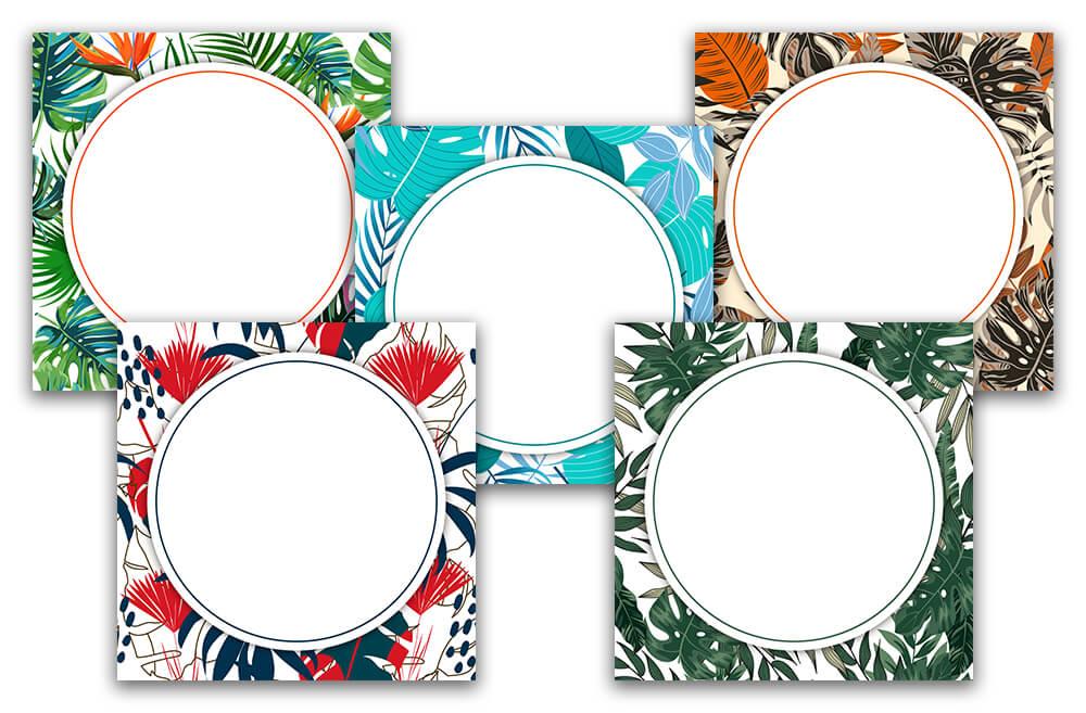 Картинка фон для надписи в инстаграм в тропическом стиле