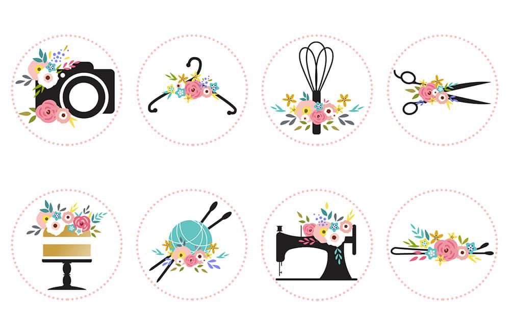 Картинки для иконок в инстаграм в одном стиле
