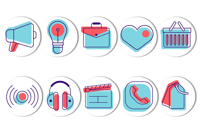Картинка иконки багаж и сумки с сердцем на фон для хайлайтс в инстаграм