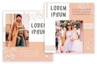 Картинки для ленты в инстаграм в psd формате бежевого цвета