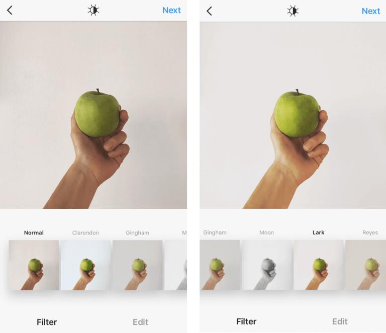 Фотография как включить фильтр Lark в инстаграм
