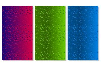 Картинка красочные прямоугольники зеленого, красного и синего цвета на живые сторис в инстаграм