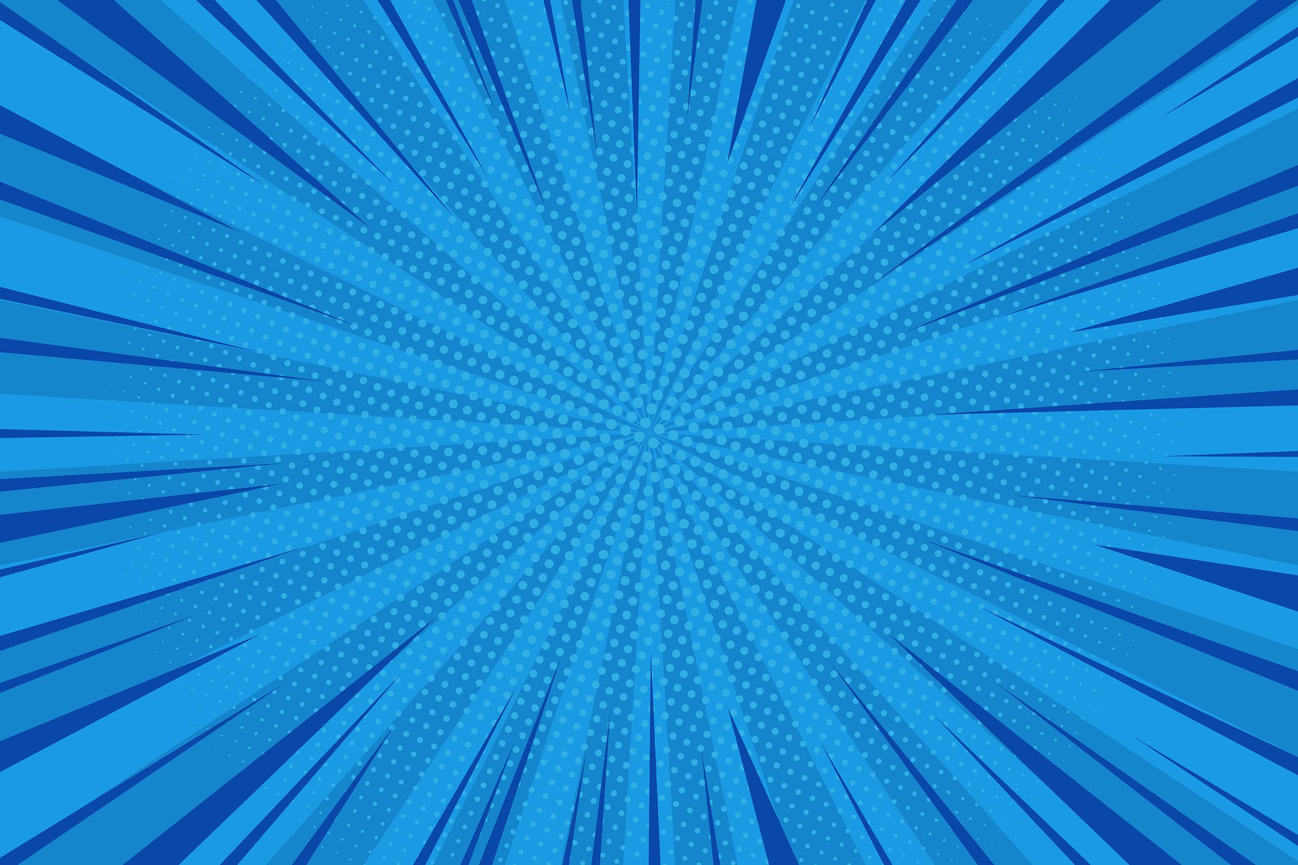 Картинка синий фон для фотошопа с симметричными бирюзовыми линиями из центра к краям в стиле аниме