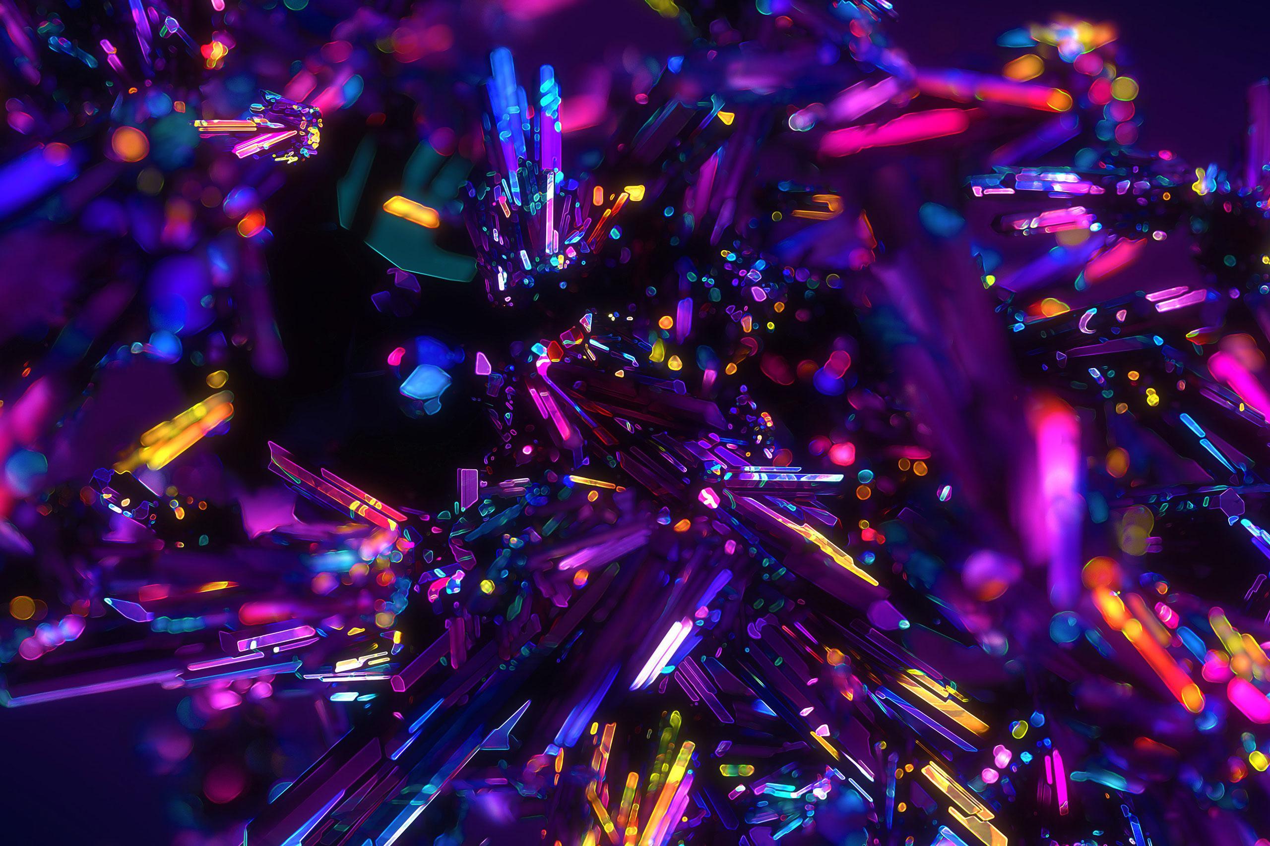 Картинка красивый фиолетовый фон для фотошопа с пурпурными и розовыми кристаллами