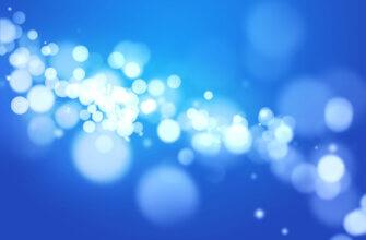 Картинка красивый голубой фон для фотошопа со светящимися круглыми бликами