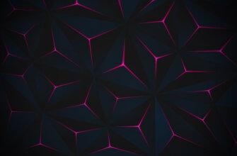 Картинка красивый черный фон для фотошопа с пурпурными симметричными узорами