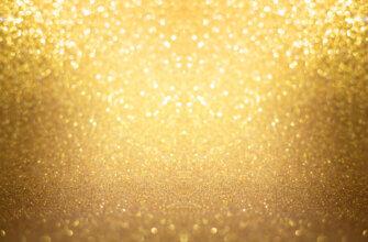 Картинка жёлтый золотой фон для фотошопа со светящимися блестками
