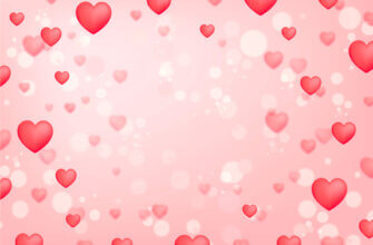 Картинка фон с сердечками для фотошопа на розовом фоне для шаблона открытки на День Святого Валентина.