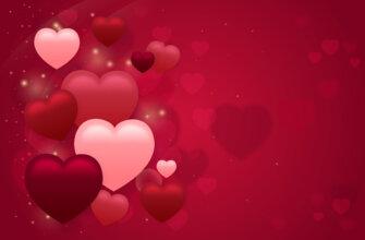 Картинка красно розовый фон с сердечками для фотошопа