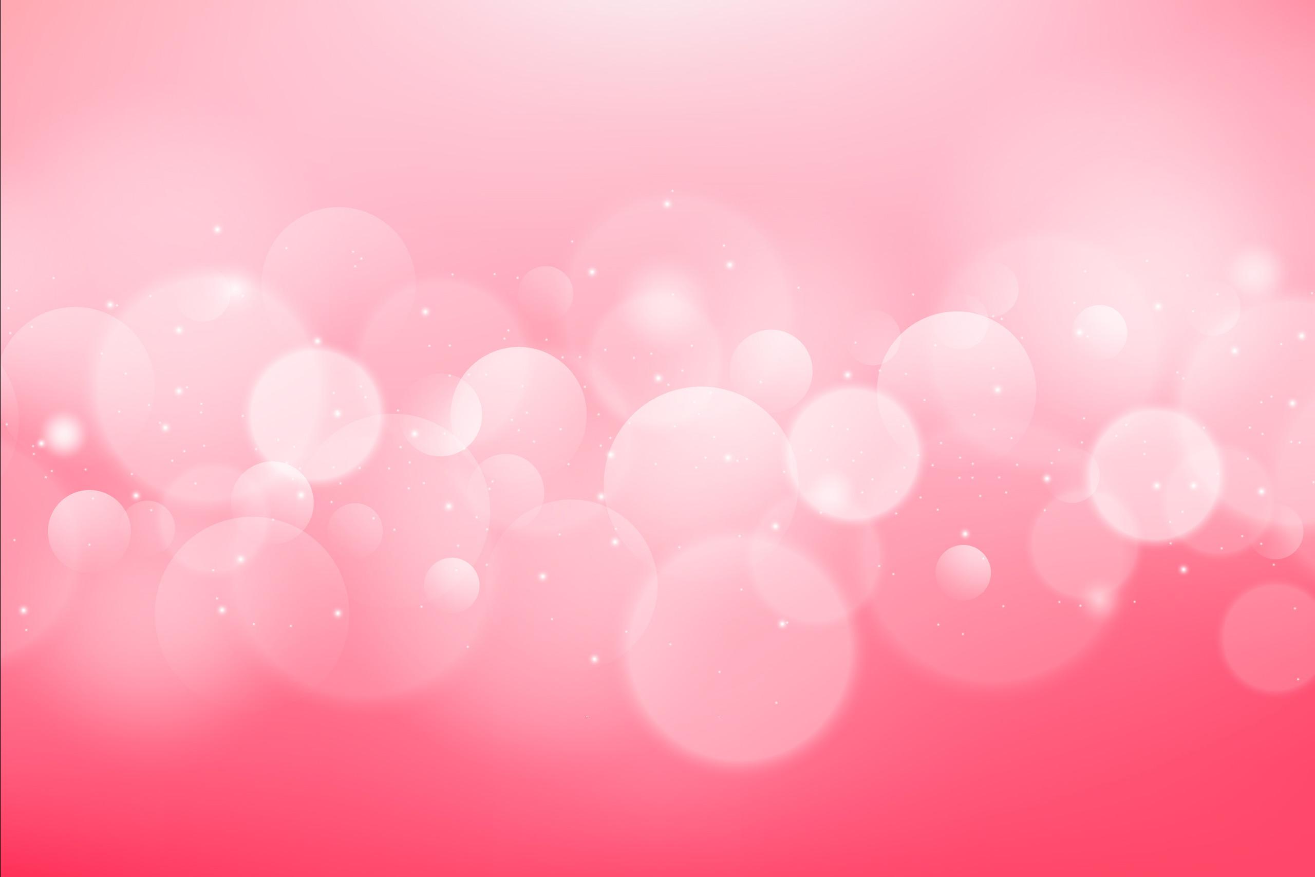 Картинка нежный розовый фон для фотошопа с круглым шариками эффекта Боке.