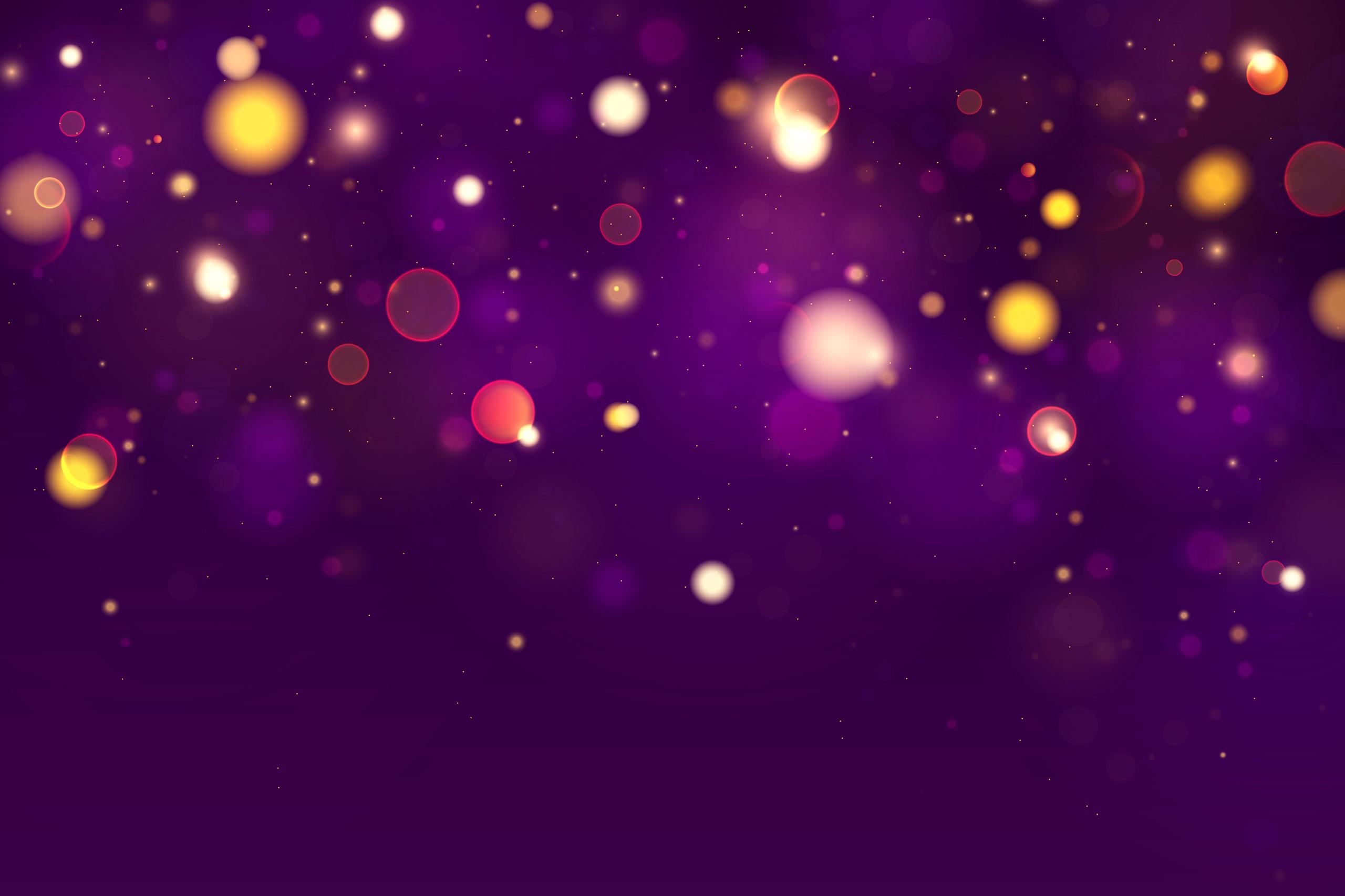 Картинка фиолетовый фон для фотошопа с круглыми светящимися бликами
