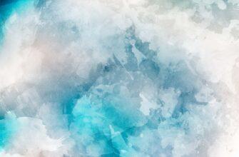 Фон для фотошопа голубая акварель с белыми разводами.