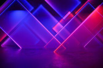 Фиолеовый неоновый фон для фотошопа с пурпурными и розовыми прямоугольниками.