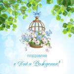 Поздравительная открытка красивая цветочница.