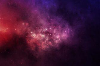 Пурпурный фон космоса для фотошопа с галактической туманностью.