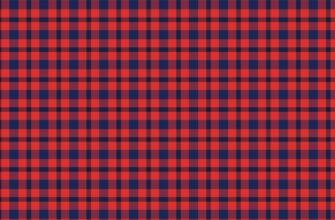 Тканевая текстура клетки синего цвета на красном фоне.